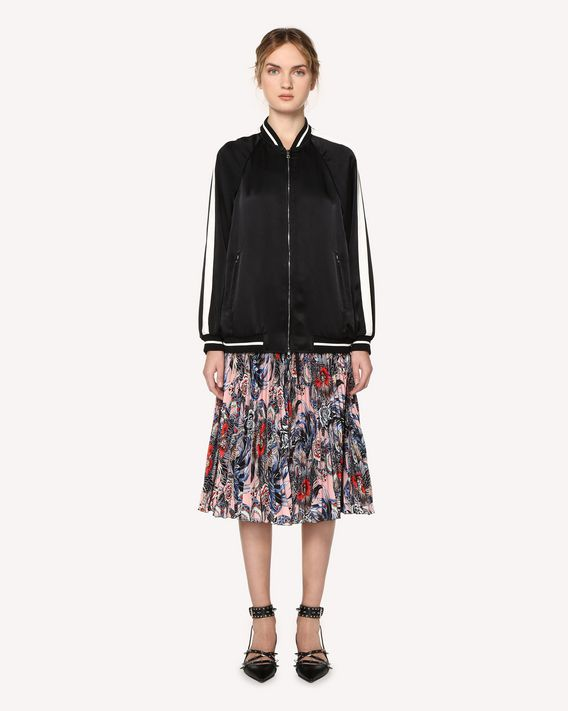 REDValentino Wild Pride printed pleated skirt