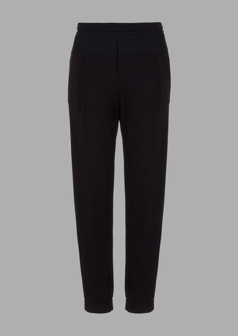 Jogging pants in plain color jersey