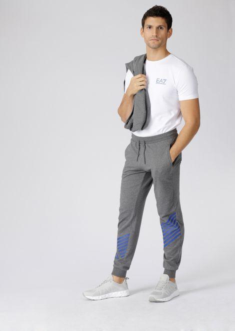 Pantalones de chándal de algodón puro Train 7Lines con logotipo