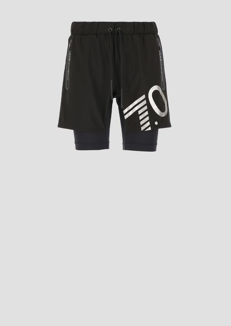 Train 7.0 tech fabric double shorts