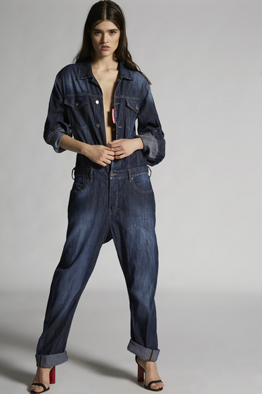 DSQUARED2 Perfection Denim Jumpsuit Pant overall Woman