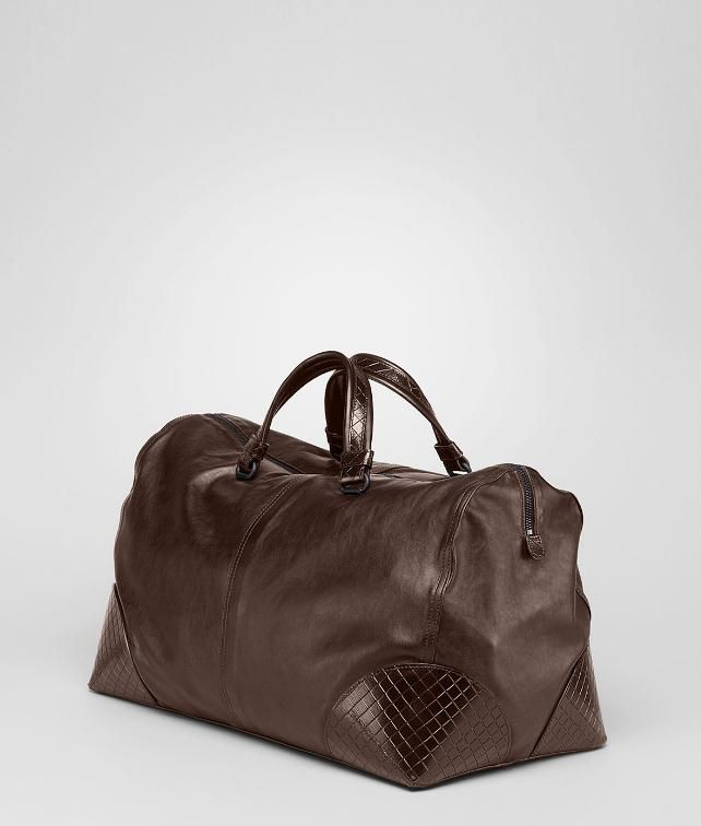 BOTTEGA VENETA Light Calf Intreccio Scolpito Duffel Duffel Bag U fp