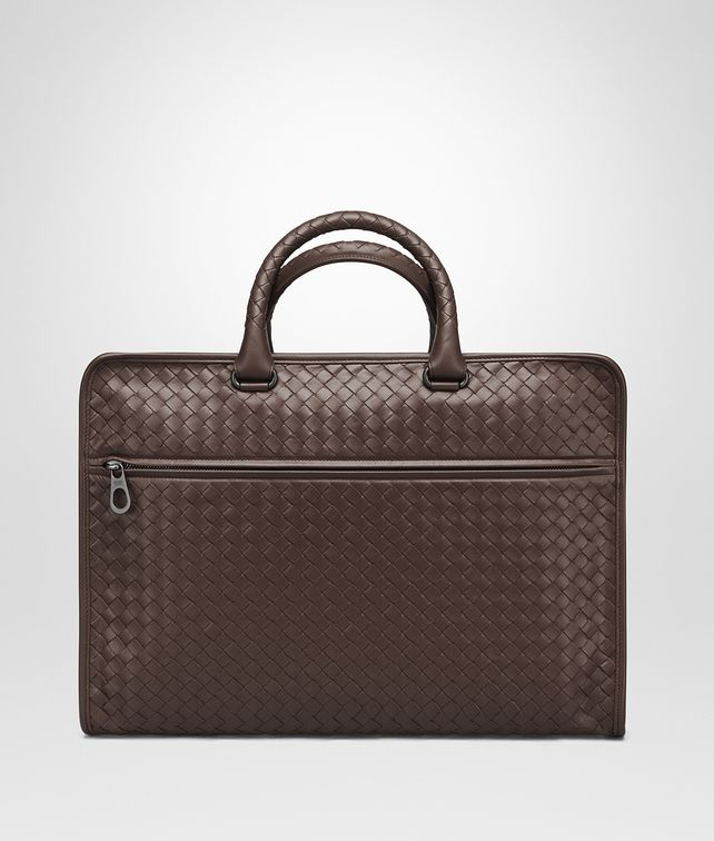 BOTTEGA VENETA AKTENTASCHE AUS INTRECCIATO KALBSLEDER IN MORO Business Tasche U fp