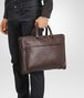briefcase in moro intrecciato calf Front Detail Portrait