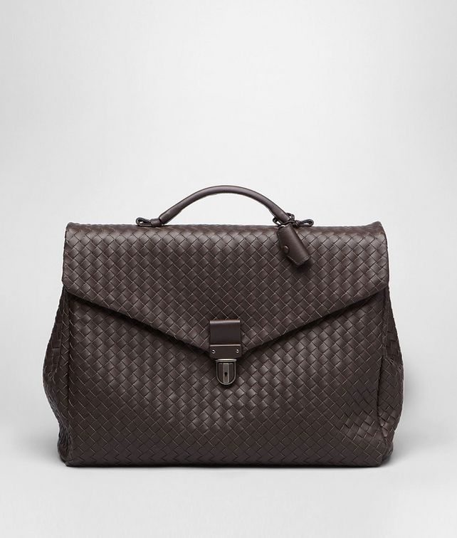 BOTTEGA VENETA Ebano Intrecciato VN Briefcase Business bag U fp