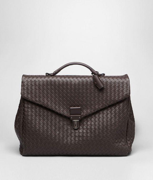 BOTTEGA VENETA Aktentasche aus VN-Leder Intrecciato Ebano Business Tasche U fp