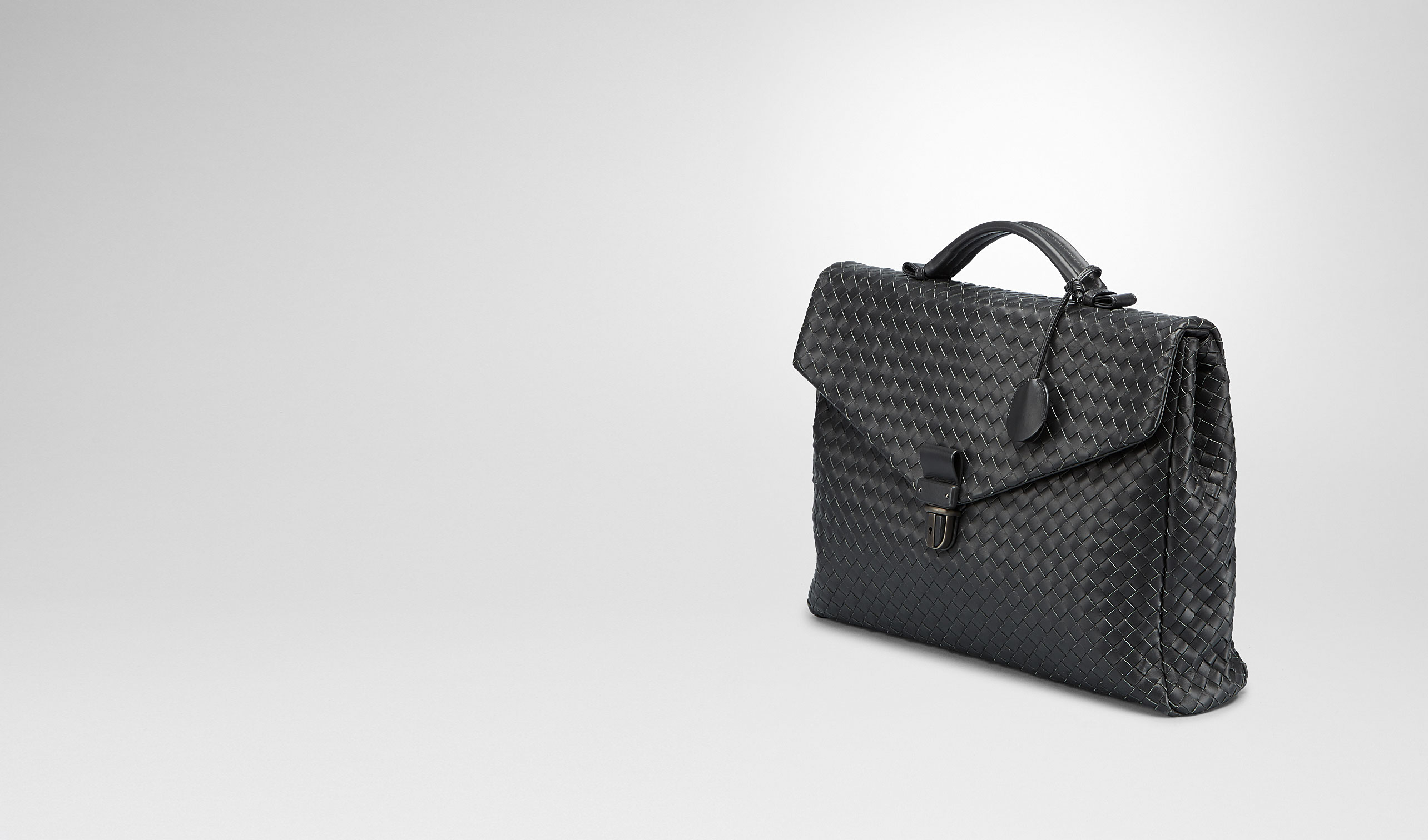 BOTTEGA VENETA Business Tasche U Aktentasche aus VN-Leder Intrecciato Nero pl