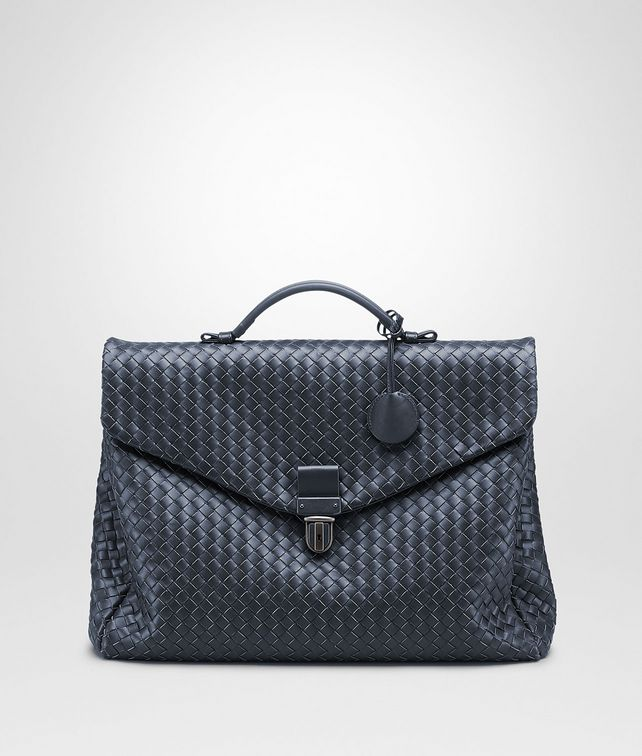 BOTTEGA VENETA SMALL BRIEFCASE IN LIGHT TOURMALINE INTRECCIATO VN Business bag U fp