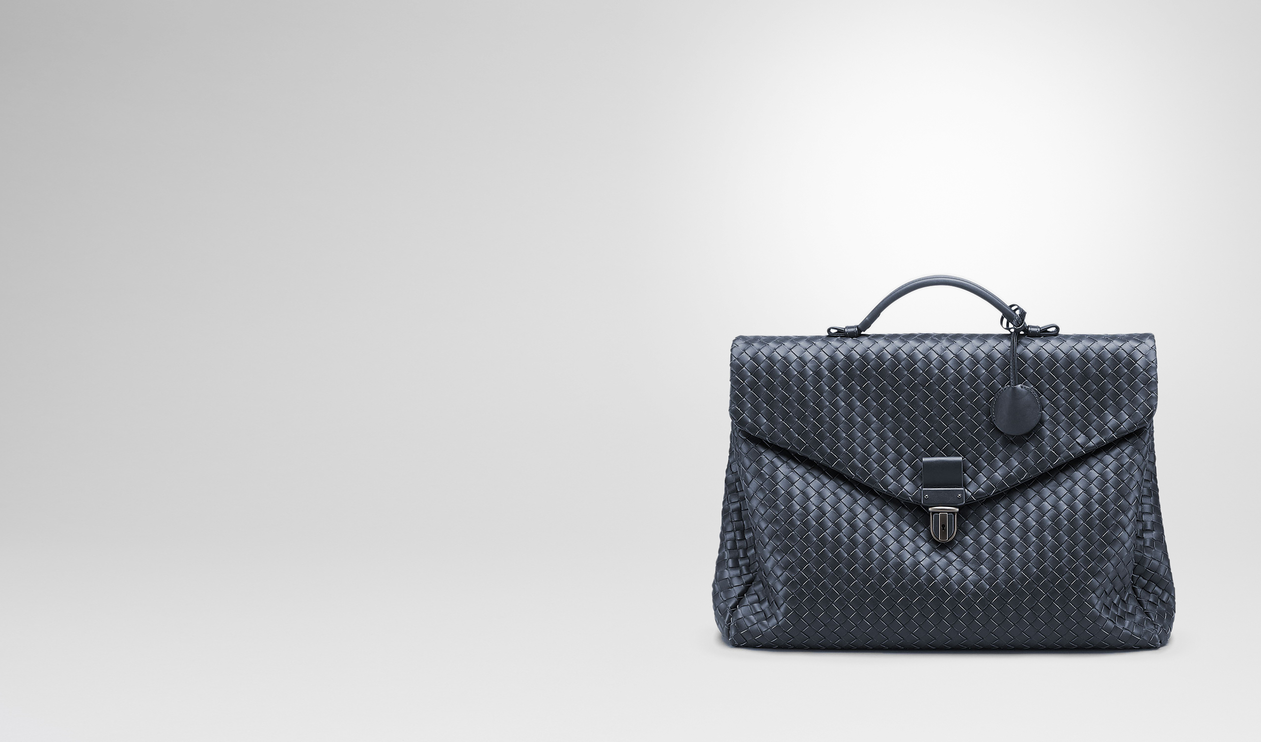 BOTTEGA VENETA Business bag U SMALL BRIEFCASE IN LIGHT TOURMALINE INTRECCIATO VN pl