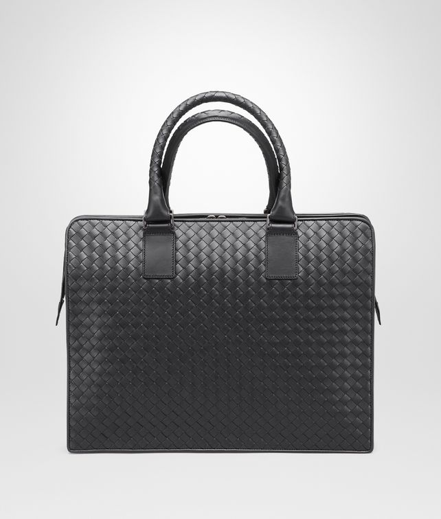 BOTTEGA VENETA BRIEFCASE IN NERO INTRECCIATO VN Business bag Man fp