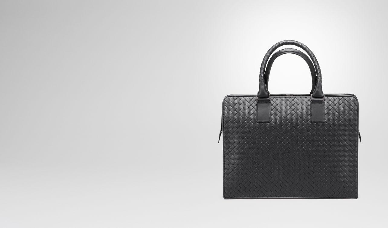 briefcase in nero intrecciato vn landing