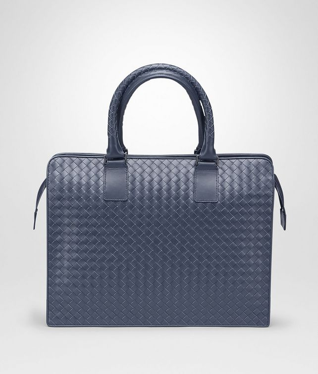 BOTTEGA VENETA BRIEFCASE IN LIGHT TOURMALINE INTRECCIATO VN Business bag Man fp