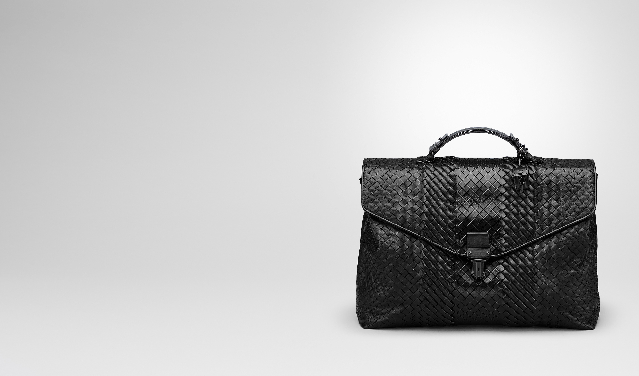 BOTTEGA VENETA Business bag U BRIEFCASE IN NERO INTRECCIO IMPERATORE pl