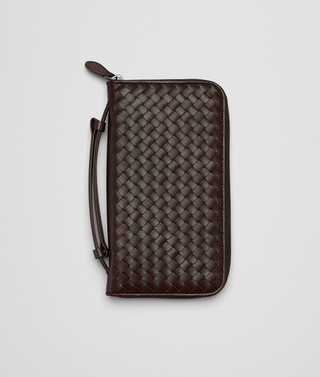 BOTTEGA VENETA Ebano Intrecciato Vn Document Case Zip Around Wallet E fp