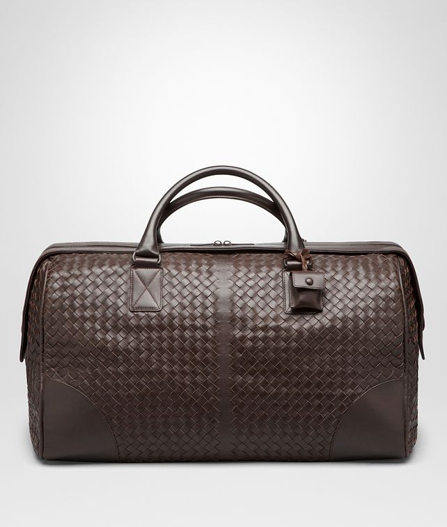 BOTTEGA VENETA Ebano Intrecciato VN Medium Duffel Trolley and Carry-on bag E fp