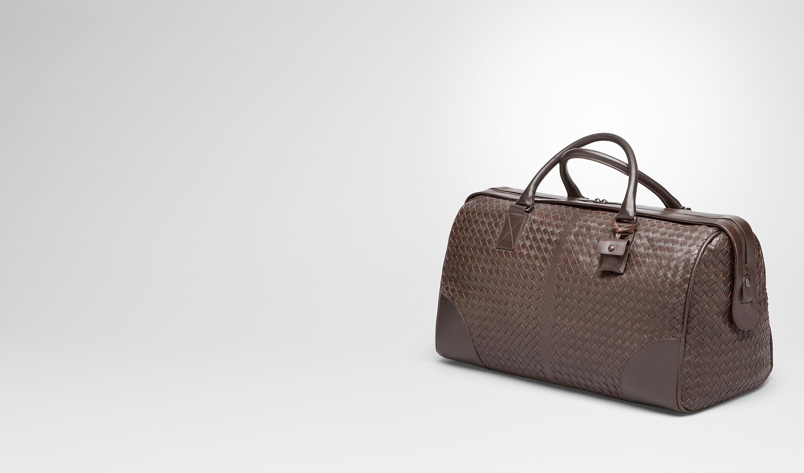 BOTTEGA VENETA Trolley und Handgepäck E Mittelgroße Reisetasche aus VN-Leder Intrecciato Ebano pl