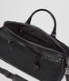 BOTTEGA VENETA MEDIUM DUFFEL BAG IN NERO INTRECCIATO VN Luggage E dp