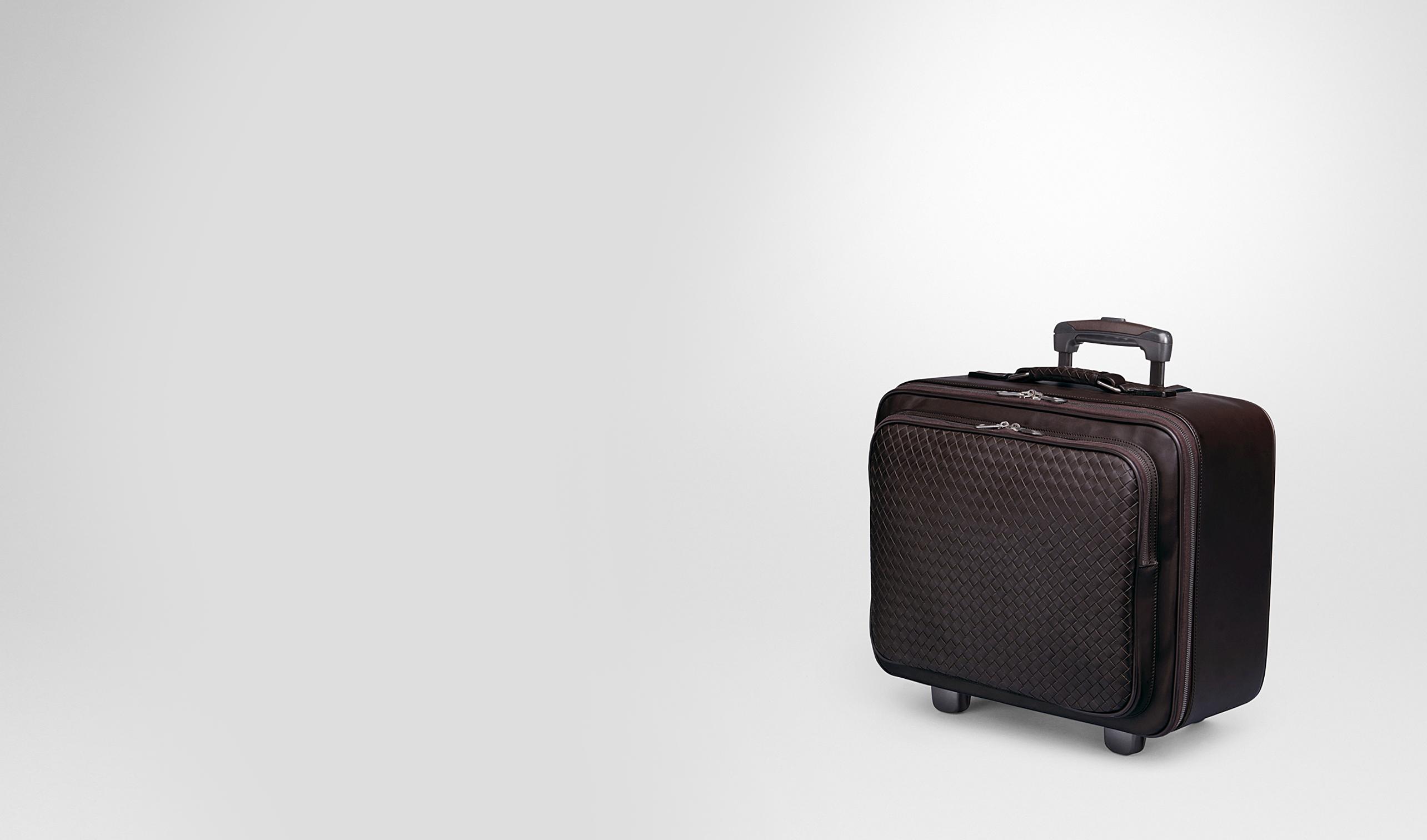 BOTTEGA VENETA Trolley und Handgepäck E Trolley aus VN-Leder Intrecciato Ebano pl
