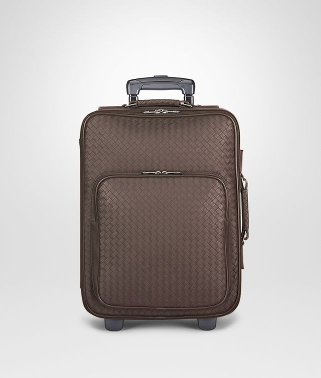 BOTTEGA VENETA TROLLEY IN EBANO INTRECCIATO VN Trolley and Carry-on bag E fp