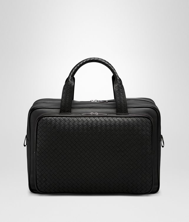 BOTTEGA VENETA TRAVEL BAG IN NERO INTRECCIATO VN Luggage E fp