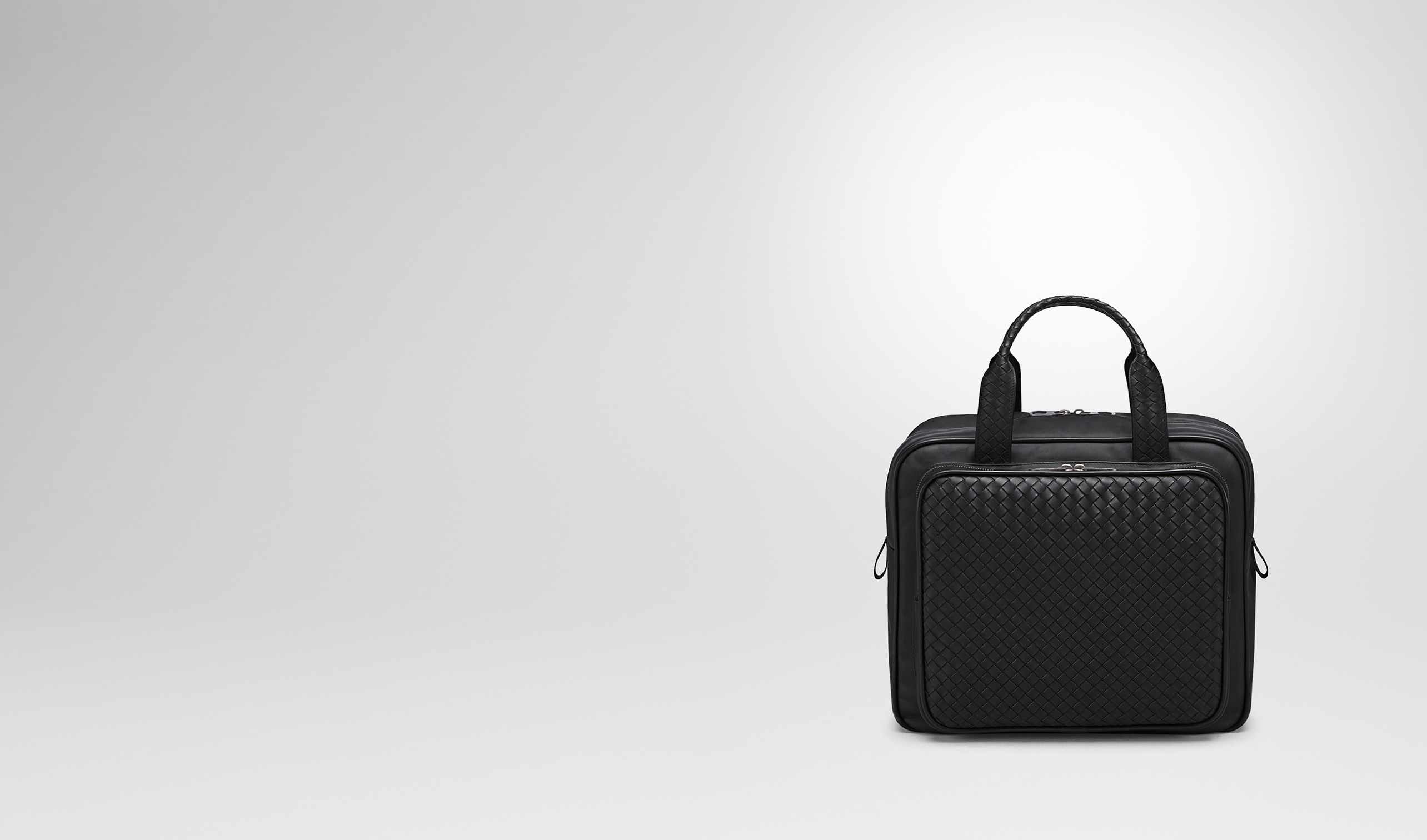 BOTTEGA VENETA Trolley and Carry-on bag E BRIEFCASE IN NERO INTRECCIATO VN pl