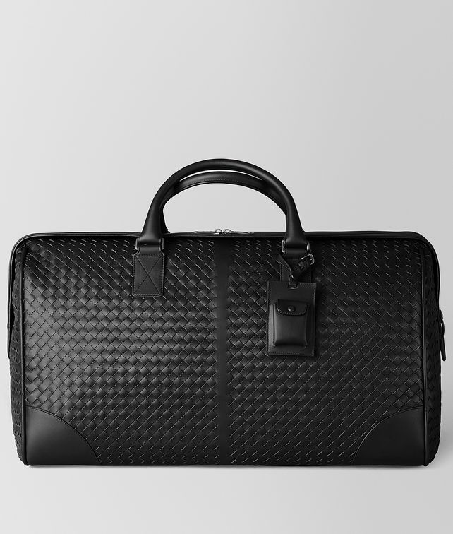 BOTTEGA VENETA LARGE DUFFEL BAG IN NERO INTRECCIATO VN Luggage E fp