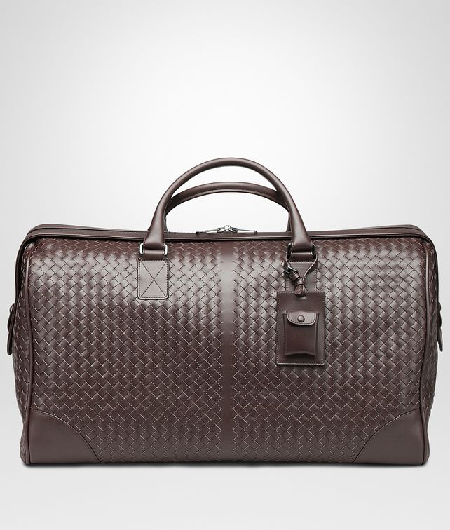 BOTTEGA VENETA Ebano Intrecciato VN Large Duffel Trolley and Carry-on bag E fp