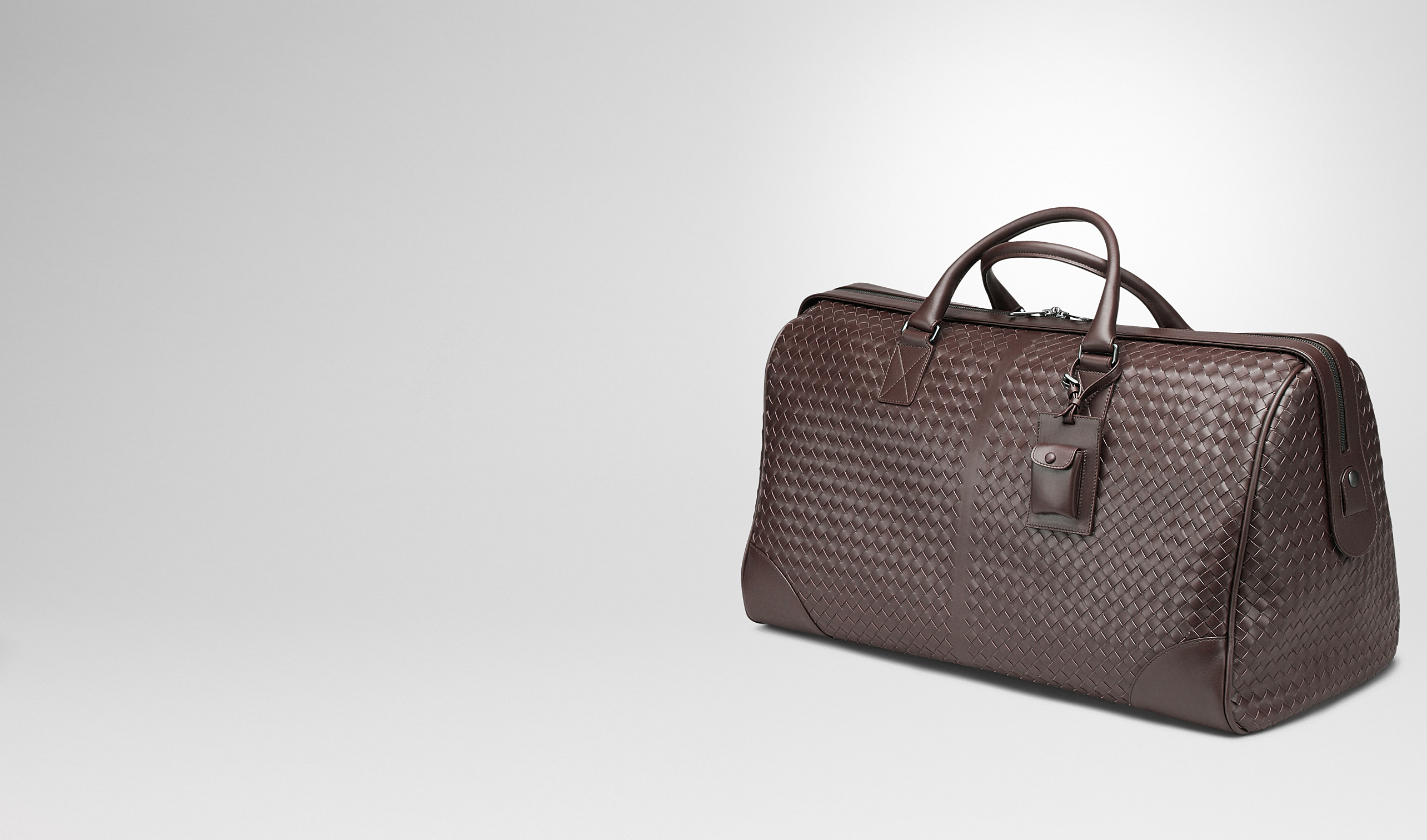 BOTTEGA VENETA Trolley and Carry-on bag E Ebano Intrecciato VN Large Duffel pl