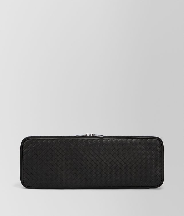 BOTTEGA VENETA TIE CASE IN NERO INTRECCIATO VN Other Leather Accessory Man fp