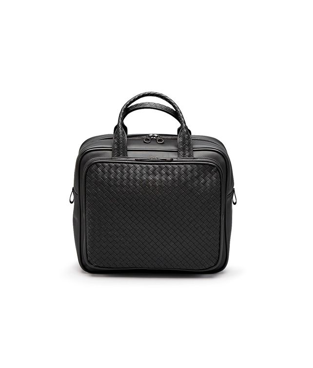 BOTTEGA VENETA CARRY ON BAG IN NERO INTRECCIATO VN Trolley and Carry-on bag E fp