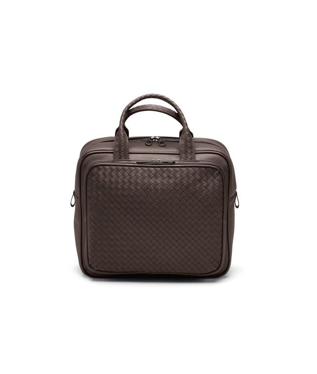 BOTTEGA VENETA CARRY ON BAG IN EBANO INTRECCIATO VN Trolley and Carry-on bag E fp