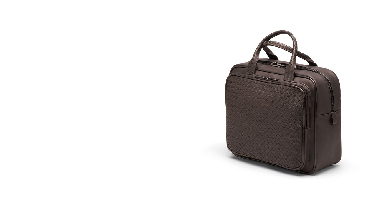BOTTEGA VENETA Trolley and Carry-on bag E CARRY ON BAG IN EBANO INTRECCIATO VN pl