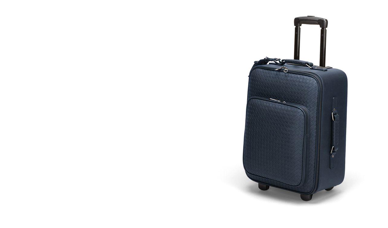 BOTTEGA VENETA Trolley and Carry-on bag E Celeste Intrecciato VN Trolley pl