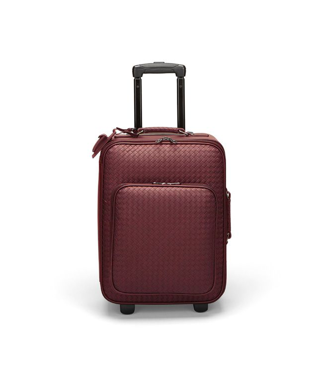 BOTTEGA VENETA TROLLEY IN VERMILLON INTRECCIATO VN Trolley and Carry-on bag E fp