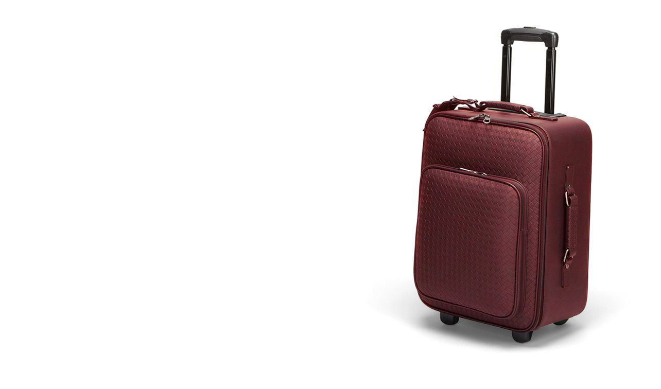 BOTTEGA VENETA Trolley and Carry-on bag E TROLLEY IN VERMILLON INTRECCIATO VN pl