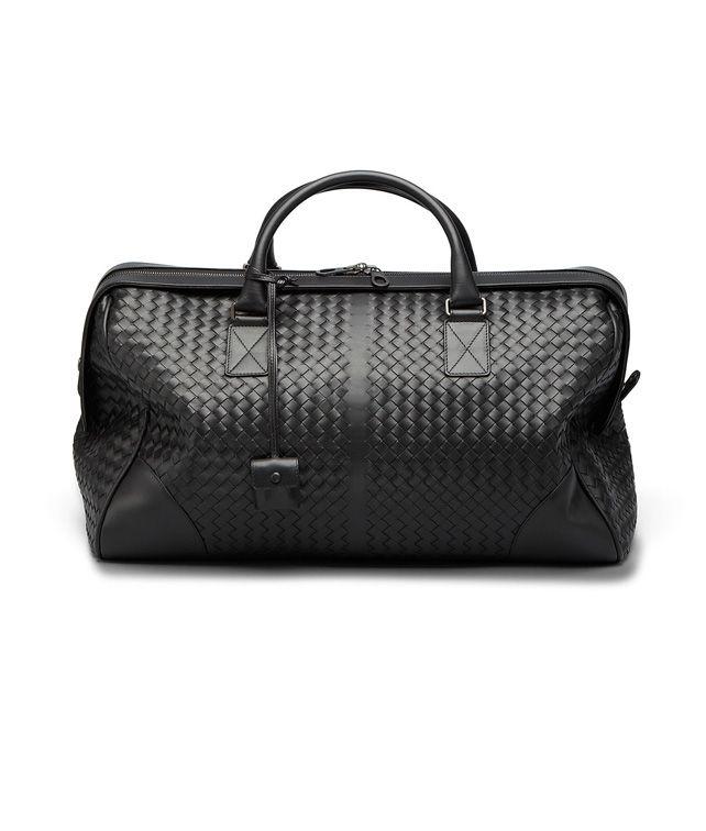BOTTEGA VENETA Mittelgroße Reisetasche aus VN-Leder Intrecciato Nero Trolley und Handgepäck E fp