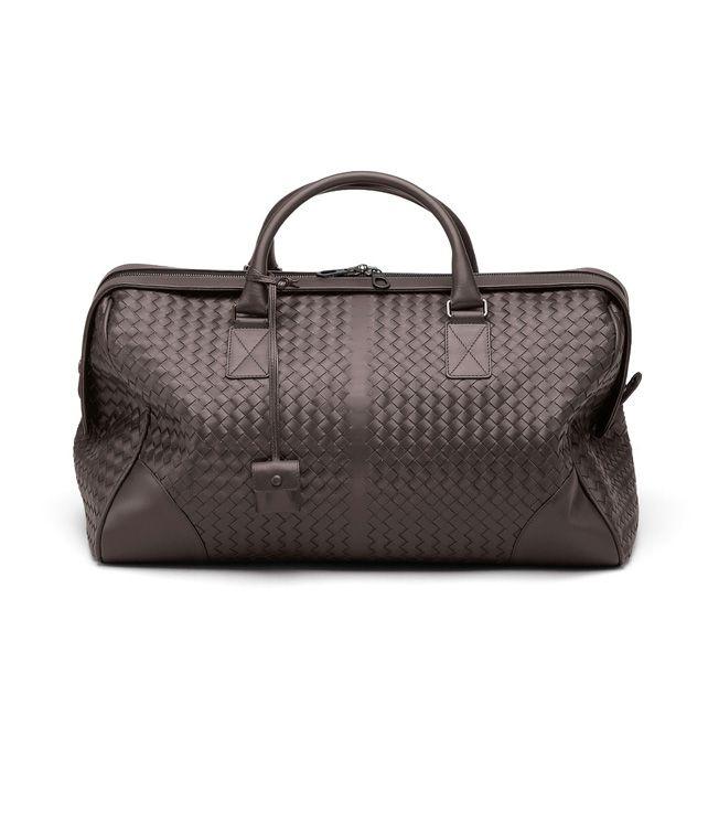 BOTTEGA VENETA Mittelgroße Reisetasche aus VN-Leder Intrecciato Ebano Trolley und Handgepäck E fp