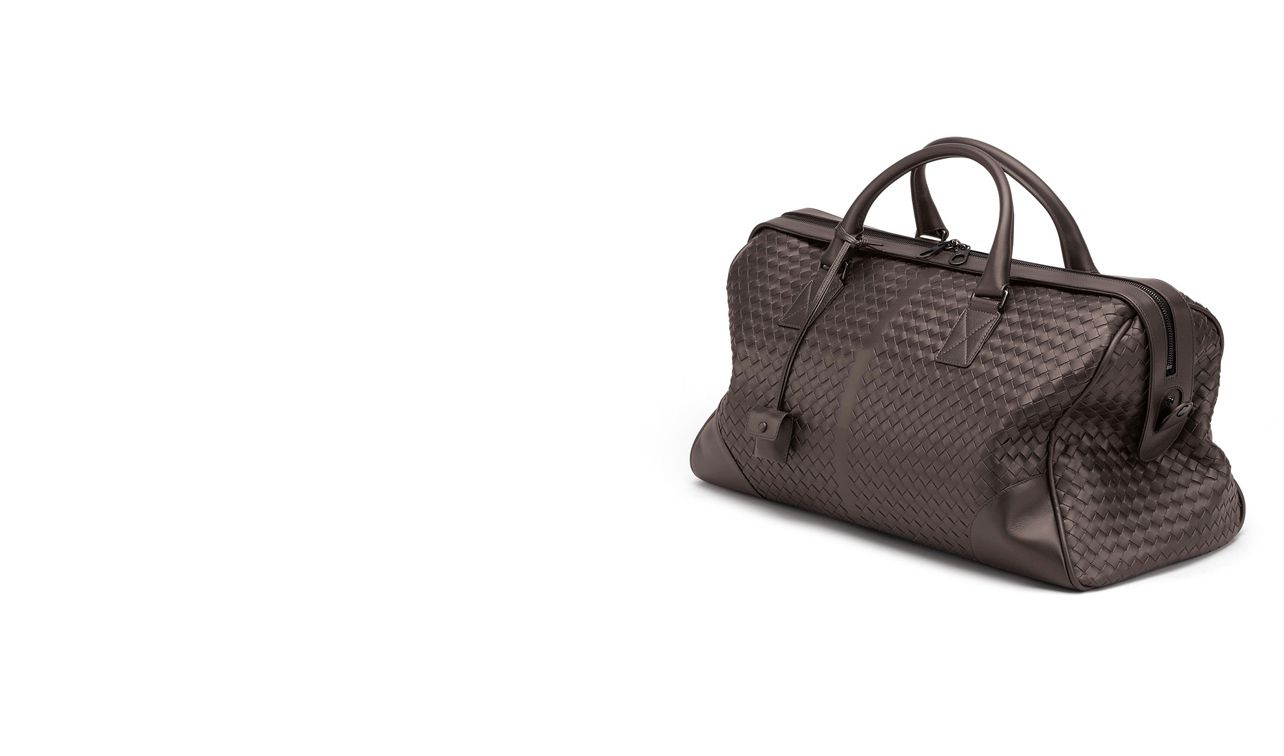 BOTTEGA VENETA Trolley and Carry-on bag E Ebano Intrecciato VN Medium Duffel pl