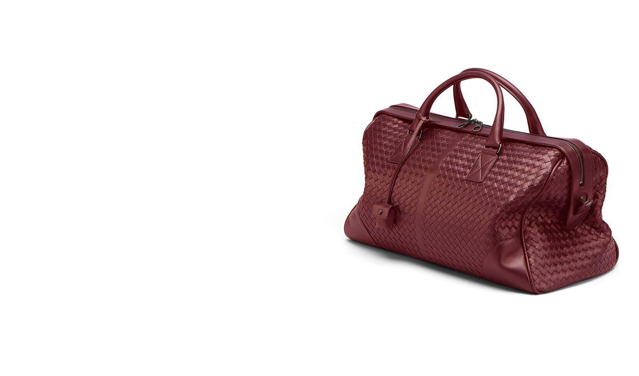 BOTTEGA VENETA Trolley and Carry-on bag E MEDIUM DUFFEL IN VERMILLON INTRECCIATO VN pl