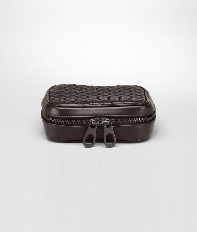 BOTTEGA VENETA Ebano Intrecciato VN Cufflink Case Other Leather Accessory U fp