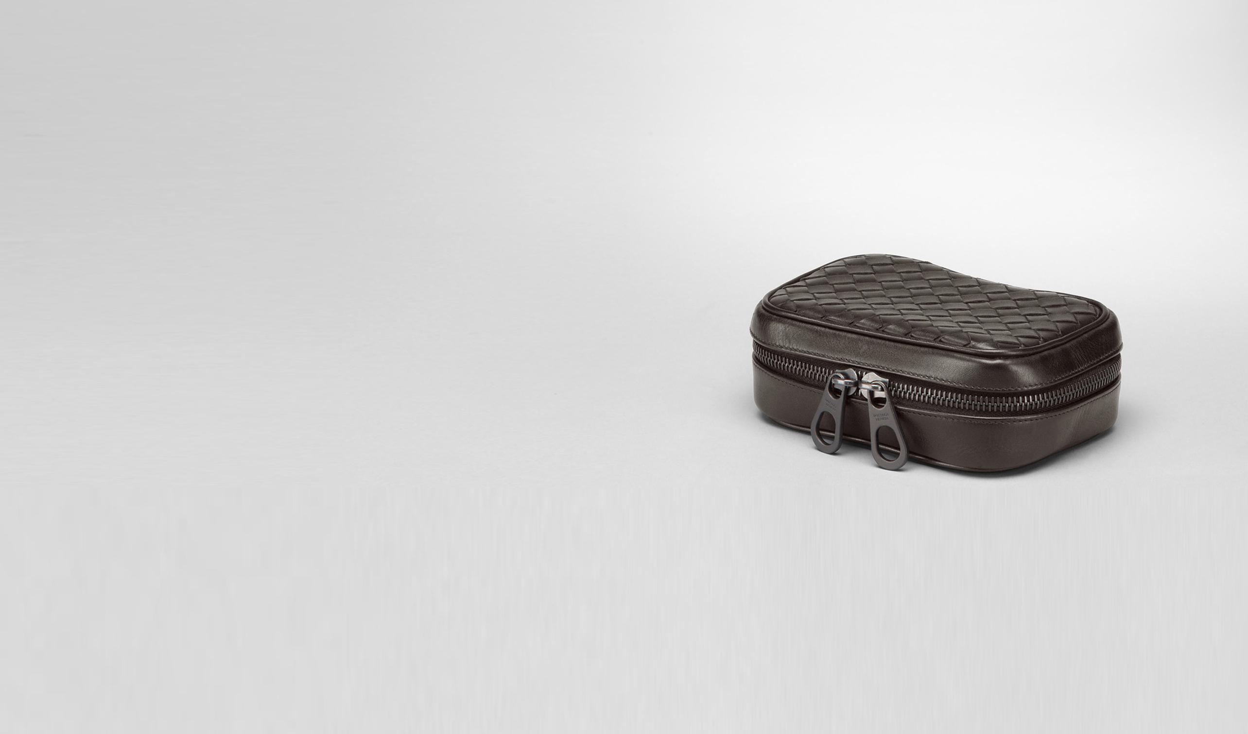 BOTTEGA VENETA Other Leather Accessory U Ebano Intrecciato VN Cufflink Case pl