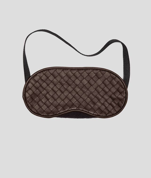 BOTTEGA VENETA Ebano Intrecciato Nappa Eye Mask Other Leather Accessory E fp