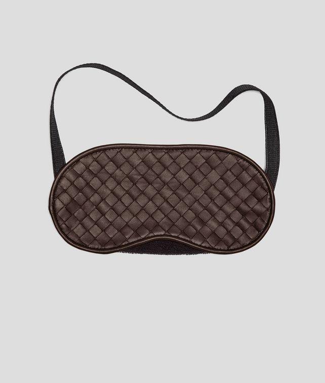 BOTTEGA VENETA Schlafmaske aus Nappaleder Intrecciato Ebano Weiteres Leder Accessoire E fp