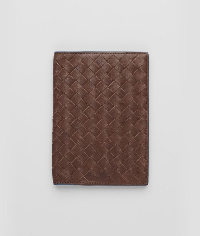 BOTTEGA VENETA Edoardo Électrique Intrecciato Washed Vintage Passport Case Other Leather Accessory E fp