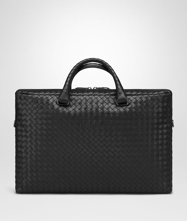 BOTTEGA VENETA AKTENTASCHE AUS INTRECCIATO KALBSLEDER IN NERO Business Tasche U fp