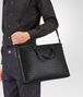 BOTTEGA VENETA BRIEFCASE IN NERO INTRECCIATO CALF Business bag U lp