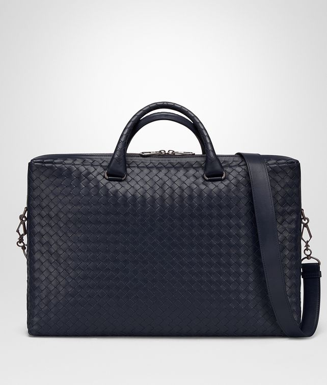 BOTTEGA VENETA AKTENTASCHE AUS INTRECCIATO KALBSLEDER IN PRUSSE Business Tasche Herren fp