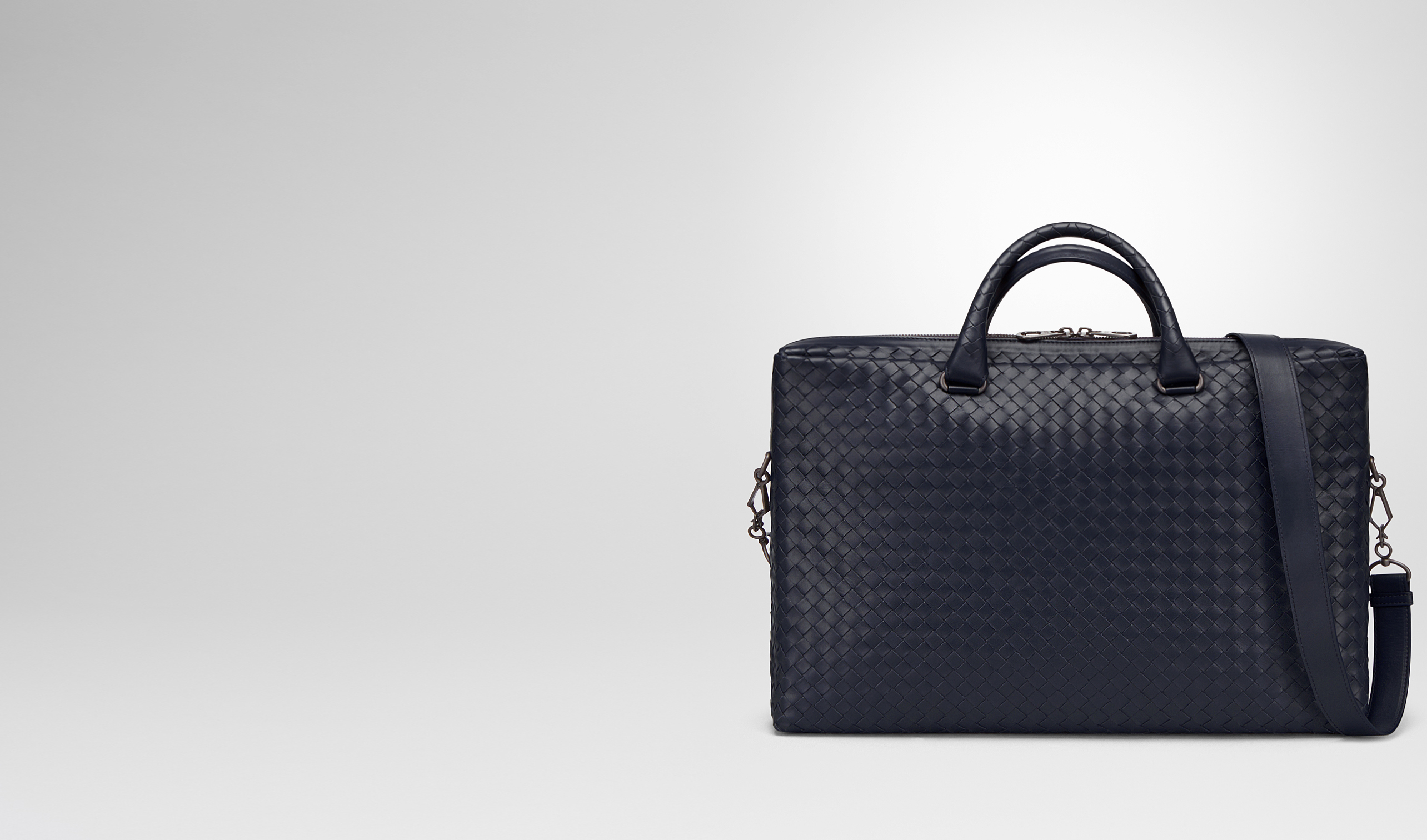 BOTTEGA VENETA Business bag U BRIEFCASE IN PRUSSE INTRECCIATO CALF pl