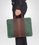 BOTTEGA VENETA Emerald Green Aubergine Edoardo Intrecciato Club Fumé Briefcase Business bag U ap