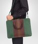 BOTTEGA VENETA AKTENTASCHE AUS CLUB FUMÉ INTRECCIATO EMERALD GREEN, AUBERGINE UND EDOARDO Business Tasche U lp